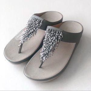 Fitflop | Rumba Beaded Wedge Sandal